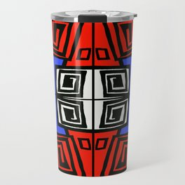 Blue & Red Travel Mug