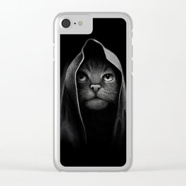 Cat portrait Clear iPhone Case