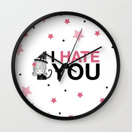 I Hate You / Witch Wall Clock