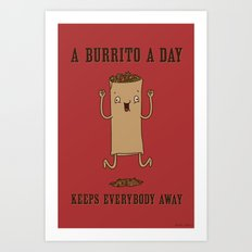 A Burrito A Day Art Print