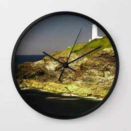 Trevose Head Lighthouse, Cornwall, United Kingdom Wall Clock