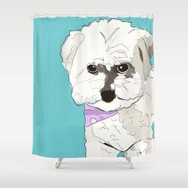Cute poodle Shower Curtain