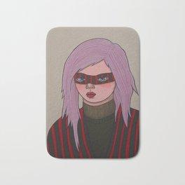 Girl in a Mask Bath Mat