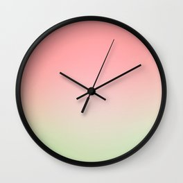 Watermelon Gradient Wall Clock