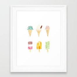 ice cream selection Framed Art Print