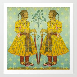 Mirrored Mughals Art Print