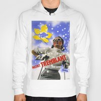 skiing Hoodies featuring CANADA/winter sports-skiing/vintage by Kathead Tarot/David Rivera