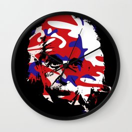Genius in disguise art print Wall Clock