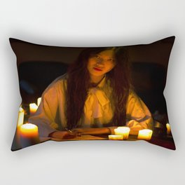 Letters and red lights Rectangular Pillow