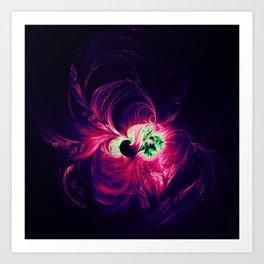 fractal blossom Art Print
