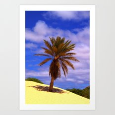 Tropical Island Palm Tree Art Print