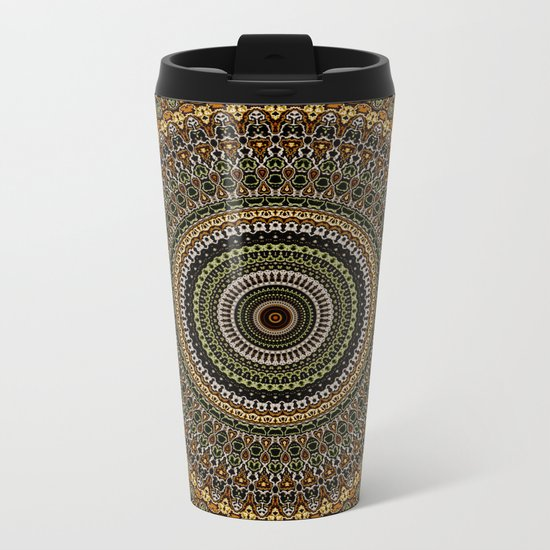Fractal Kaleido Study 001 in CMR Metal Travel Mug