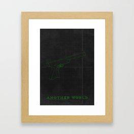 Another World  - MINIMALIST POSTER Framed Art Print