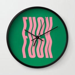 Favorite Word: Tropical Wavy Edition Wall Clock