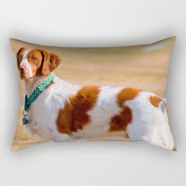 Brittany Spaniel Dog Beautiful Rectangular Pillow