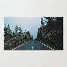 Foggy driving Canvas Print