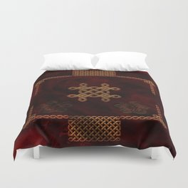 Celtic knote, vintage design Duvet Cover