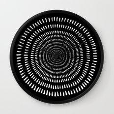 Fjorn black Wall Clock
