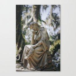 Bonaventure Cemetery - Statue of Eliza Wilhelmina Theus Canvas Print