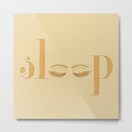 eye love sleep Metal Print