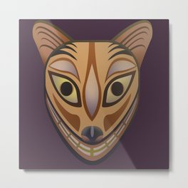 Feline tribal mask Metal Print