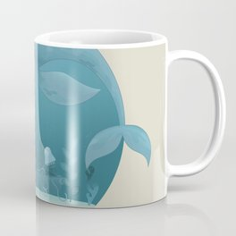 Seagull rest over whale Coffee Mug