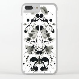 Rorschach-Poem (1) Clear iPhone Case