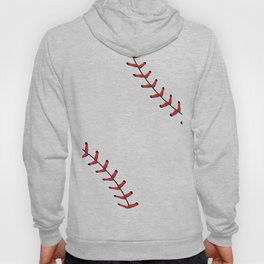 Softball Baseball design red laces Hoody