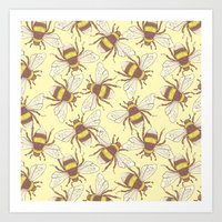 bees Art Prints featuring Bees! by Good Sense