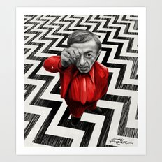 Homage to Twin Peaks - Fire walk with me Art Print