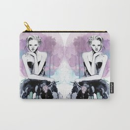 Watercolour Fashion Illustration Young & Beautiful Pink Carry-All Pouch