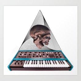 Skull Synthesizer Art Print