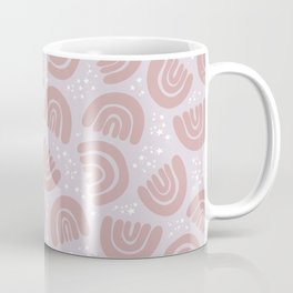 Rainbow Sky // Dusty Pink Coffee Mug
