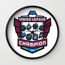 Indigo League Champion - Blue Version Wall Clock