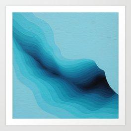 Cubed Glacier IV Art Print
