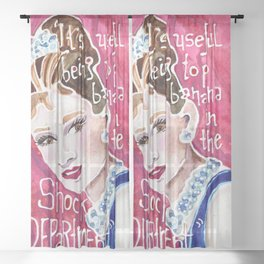 Holly Golightly Sheer Curtain