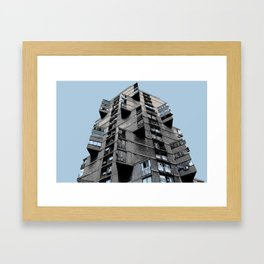 Toblerone Building in Belgrade Framed Art Print