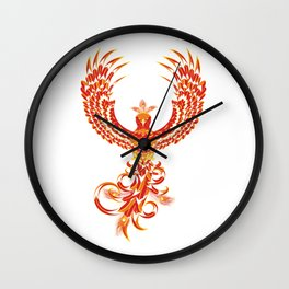 Mythical Phoenix Bird Wall Clock