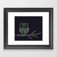 Owl on a branch Framed Art Print