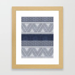 Dutch Wax Tribal Print Framed Art Print
