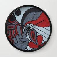 60s Wall Clocks featuring 60s Vibe by Tanya Thomas