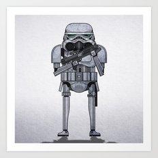 star storm fighter Art Print