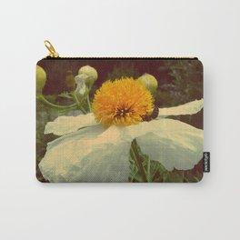 Secret Garden   White poppy  Carry-All Pouch