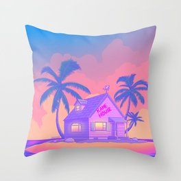 80s Kame House Throw Pillow
