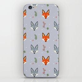 Cute Fox Pattern - Earl Grey iPhone Skin