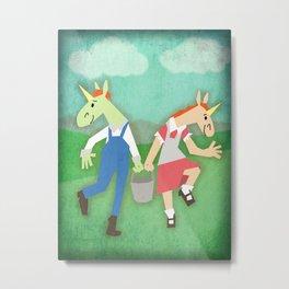 Jack & Jill Unicorn Metal Print