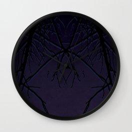 Dark Limbs Purple Wall Clock