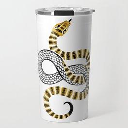 Gold Snake Travel Mug