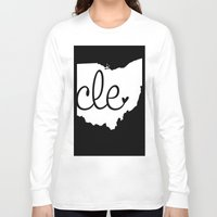 cleveland Long Sleeve T-shirts featuring Love Cleveland by anastasia5