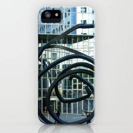 Doubles lignes indéterminées iPhone Case